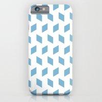 rhombus bomb in dusk blue iPhone 6 Slim Case