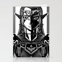 Legend of Zelda Princess Zelda Line Work  Stationery Cards