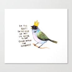 Trash Bird Self Affirmat… Canvas Print