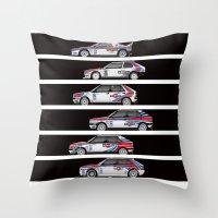 Lancia Martini Rally Cars Throw Pillow