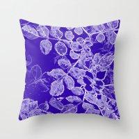 Negia Blue Throw Pillow