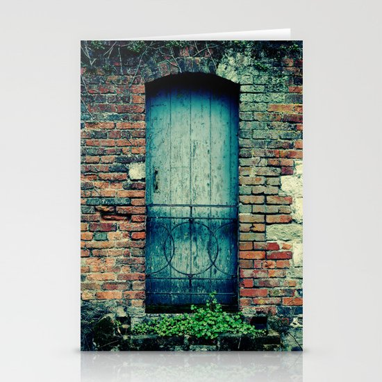 Blue Door Stationery Card