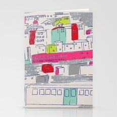 Bright lights City Stationery Cards