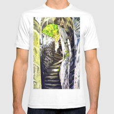 Approach SMALL White Mens Fitted Tee