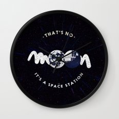 That's no moon. It's a space station v2 Wall Clock