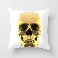 Polygon Heroes - Gold Sk… Throw Pillow