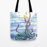Bath Time Octopus Tote Bag