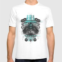 Cattus Mens Fitted Tee White SMALL