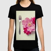 You Are What You Eat - White Womens Fitted Tee Black SMALL