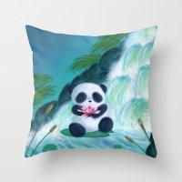 Panda Lilly Throw Pillow
