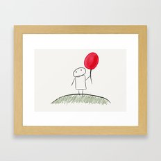 my red balloon Framed Art Print
