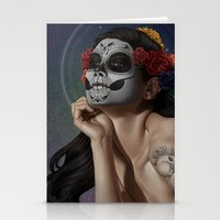 skulls Stationery Cards featuring Skulls by Joifish