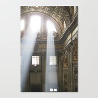 Sun rays in the Vatican Canvas Print