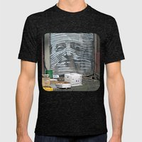 Alley Face Mens Fitted Tee Tri-Black SMALL