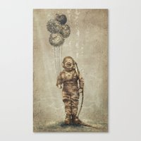 Balloon Fish (Sepia) Canvas Print