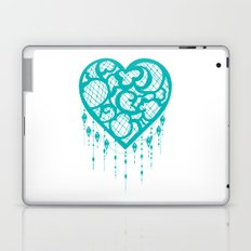 Heart-Catcher Teal Laptop & iPad Skin
