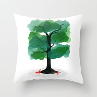 Man & Nature - The Tree … Throw Pillow