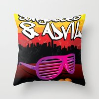 Sunglasses and Advil Throw Pillow