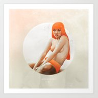 Art Print featuring ANDROMEDA by Katie Sanvick