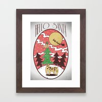 Hello Santa Framed Art Print