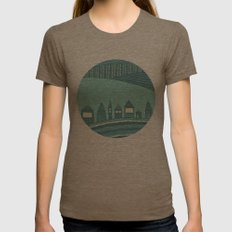 Where Seven Dwarfs Live Womens Fitted Tee Tri-Coffee SMALL