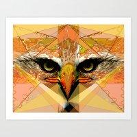 Eagle Eyes Art Print