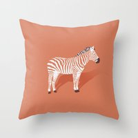 Animal Kingdom: Zebra I Throw Pillow