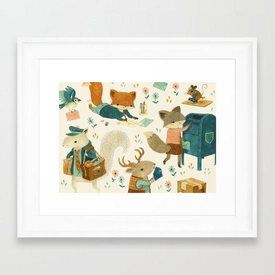 Critter Post Framed Art Print