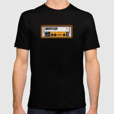 Retro Orange guitar electric amp amplifier iPhone 4 4s 5 5s 5c, ipad, tshirt, mugs and pillow case Mens Fitted Tee Black SMALL