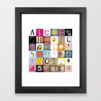 #36daysoftype Handmade Alphabet Framed Art Print