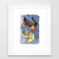 Skygonal Framed Art Print