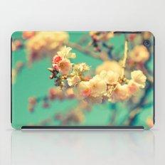 Pink blue blossom iPad Case