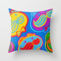 pringles man Throw Pillow
