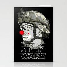 Clown To Stop Wars Stationery Cards