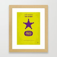 No190 My Toy Story minimal movie poster Framed Art Print