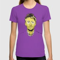 Thom Yorke Womens Fitted Tee Ultraviolet SMALL