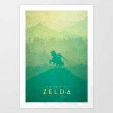 Warrior - The Legend of Zelda Art Print