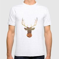 deer lake Mens Fitted Tee Ash Grey SMALL