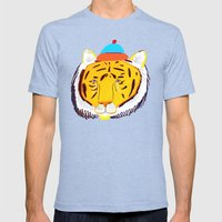 TIGER Mens Fitted Tee Tri-Blue SMALL