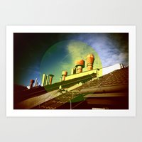 And Even The Sky Was Gol… Art Print