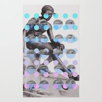 Statue With A Dot Gradient 2 Rug