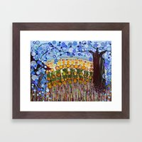 :: Indiana Blue Willow :… Framed Art Print
