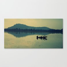 Kashmiri Boatman  Canvas Print