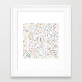 Framed Art Print - Ab Linear Rainbowz - Project M