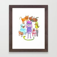 Animal Pyramid Framed Art Print
