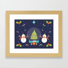 Day 01/25 Advent - Frosty meets his match Framed Art Print