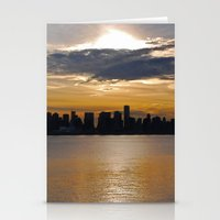 Downtown Sunset Stationery Cards