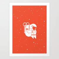 The Cosmonaut Art Print