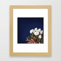 White Tulips Framed Art Print