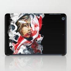 cosmonaut portrait by carographic iPad Case
